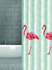 Rideau de douche en tissu Flamingo Rouge / ORANGE MENTHE 180x200 cm 180 large x