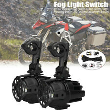 2x Motorcycle LED Auxiliary Spot Fog Light 40W Wiring For BMW F800GS R1200GS ADV