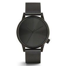 "NEW KOMONO Black ""WINSTON ROYALE"" Mens Leather Watch -SALE"
