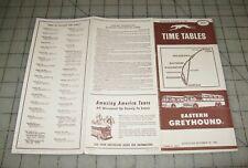 1955-1956 Eastern Greyhound New York to Norfolk, Va Time Tables #40
