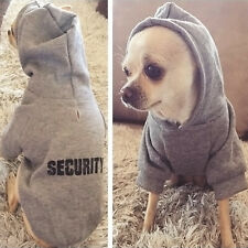 Security Dog Clothes Classic Pet Dog Hoodies Clothes For Small Dog Autumn Coat J