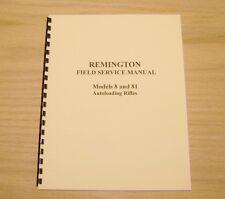 Remington Model 8 & 81 Field Service Manual - Gunsmith - Repair - #25