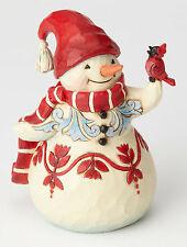 Enesco Jim Shore Heartwood Creek Pint Sized Snowman with Cardinal Nib 4058803