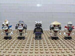 Lego Ninjago Minifigures Lot. Skeleton Army and Lord Garmadon.