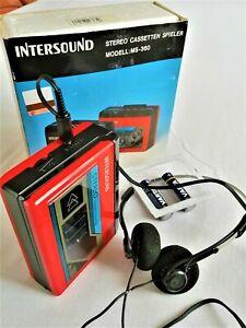 "Seltenheit: kultiger ""INTERSOUND"" Walkman, Stereo, Kopfhörer, Originalverpackung"