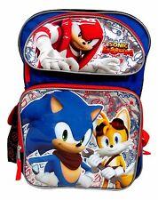 """Sonic The Hedgehog Large 16"""" backpack Book Bag"""