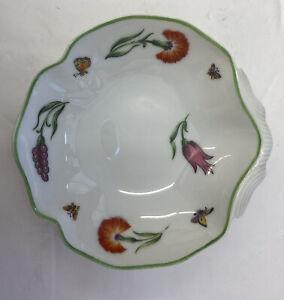 "Tiffany & Co Limoges Clam Shell Bowl Tiffany Garden Pattern 4"""