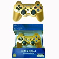 PS3 PlayStation DualShock3 Wireless SixAxis Controller GamePad With box Gold