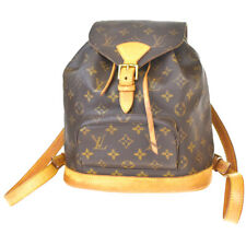 Auth Louis Vuitton Montsouris MM zaino borsa monogram in pelle M51136 98MC209