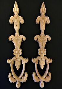 Ornamente Holz  ** 2 St. ** Möbelbeschläge. Möbel Dekoration. Barock