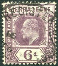 SIERRA LEONE-1903 6d Dull Purple Sg 81 GOOD USED V29731