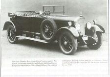 DAIMLER-BENZ 1924 Tourenwagen Foto Photo Photograph Oldtimer Auto Automobil