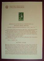 1955  ITALIA  Bollettino Postale N° 16  Battista Grassi