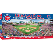 Masterpieces Chicago Cubs Wrigley Field 1000 Piece Panoramic Jigsaw Puzzle NIB