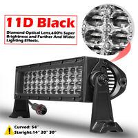 "Quad Row 12"" 480W LED Light Bar Spot Flood 6000K Driving For JEEP Truck ATV SUV"