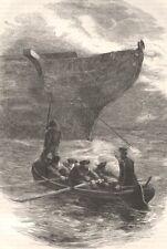 MILITARIA. Civil War. Lt Caldwell slipping chain c1880 old antique print