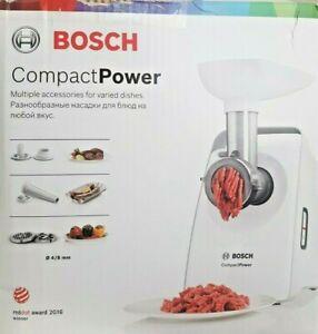 BOSCH MFW3520W Fleischwolf Compact Power Weiß inkl. Kebbe Aufsatz