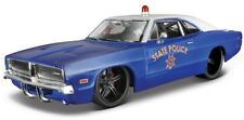 DODGE CHARGER R/T POLICE 1969 1:24 Scale Diecast Toy Car Model Miniature