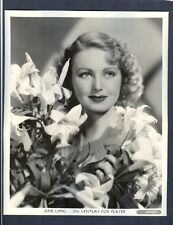 EXQUISITE PORTRAIT OF JUNE LANG - NEAR MINT COND - END CAREER BECOMING MOB WIFE