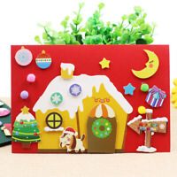 Non-woven fabric DIY Painting Xmas Thanksgiving Greeting Card Holiday Gift W