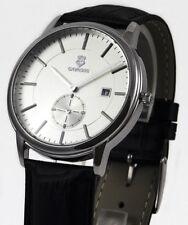Cavadini -zentralsekunde Steel Men's Watch in White Petite Second Model 2018