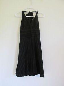 New Women's I'Ogan for Target Black & Gray Striped Halter Dress Iogan Size 7