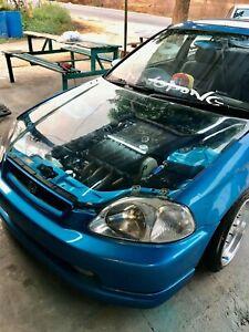 Hood clear  rare JDM for Honda civic EK 1996-1998   4Dr / 3DR / 2DR
