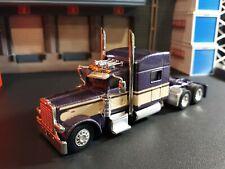 HO 1/87 SCALE TNS Trucks N Stuff Peterbilt 389 w Flatbed Trailer Paint Flaw