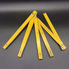 Wooden Yard Stick Folding Ruler Wood Carpenter Metric Measuring Tools 200cm RULE