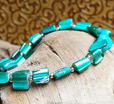 Modeschmuck-Armbänder aus Metall-Legierung Dehnbare Türkis