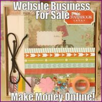 Fully Stocked SCRAPBOOKING Website Business|FREE Domain|FREE Hosting|Traffic