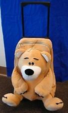 Amos Plush Bear Pull Bag Wheeled, Retractable Handle. School Luggage Bag Pack