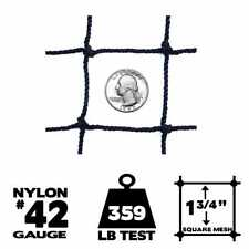 Netting - 50' x 50', #42 Gauge, Baseball / Softball Panel Net (Choose Border)