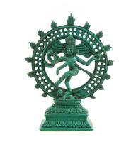 Soprammobile Shiva Nataraja Danza Turchese IN di Resina HINDOUISME-5351