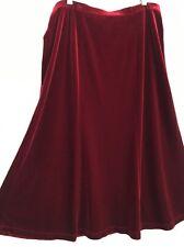 ❤️ White Stag Sz L 10 Red Velvet Stretch Skirt Party - Flattering - Cute