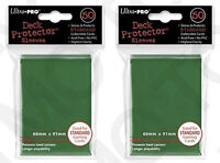 100 2pk ULTRA PRO Deck Protector Card Sleeves Magic Pokemon Standard Green