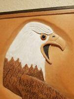 George Updegraff , Bald Eagel Wood Carving - Signed by Artist 1992