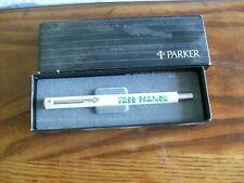 """vintage Parker Rollerball pen  NIB """" TREE FARMER """""""