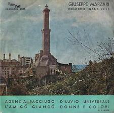 DISCO 45 Giri  GIUSEPPE MARZARI COMICO GENOVESE - AGENZIA PACCIUGO