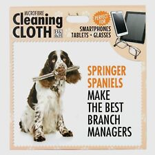 Springer Spaniel Microfibre Cleaning Cloth Tablet Phone Glasses Dog Lovers Gift