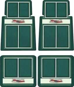 OER Dark Green/Green/Ivory Carpet Floor Mat Set 1955-1957 Chevy Bel Air Nomad