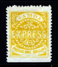 SAMOA 1878-9 One Shilling Dull Yellow Second State Perf 12½ SG 7 MINT