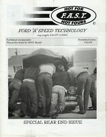 "Hot For F.A.S.T. Hot Fours - FORD ""A"" Speed Technology 2001 Issue 3 Magazine USA"