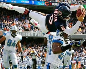 JAY CUTLER 8X10 PHOTO CHICAGO BEARS PICTURE NFL FOOTBALL vs DETROIT LIONS