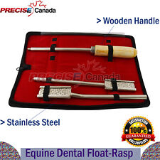 3 Pcs Set Equine Dental Float Rasp With Kit Horse Veterinary Instruments Vt 137