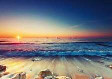 Beautiful Calming Sunset Beach Scene Large A2 Poster Print 59cm x 42cm BLPA2P28