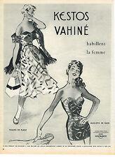 PUBLICITE ADVERTISING 014   1954   KESTOS VAHINE    tenues de plage