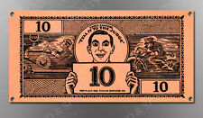VINTAGE EDDIE CANTORS 10 DOLLAR BILL IMAGE BANNER NOS IMAGE REPRODUCTION