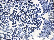 BLUE PARADISE LACE RETRO KITCHEN DINING PATIO OILCLOTH VINYL TABLECLOTH 48x48
