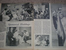 Photo article US TV show CBS Bride and Groom 1952 My Ref R